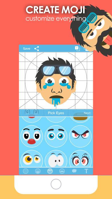 iPhone Giveaway of the Day - Moji Creator - Emoji Generator