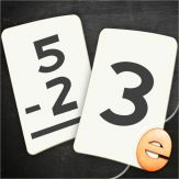 Subtraction Flashcard Match Games for Kids in Kindergarten, 1st and 2nd Grade Giveaway