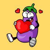 Eggplant Stickers Giveaway