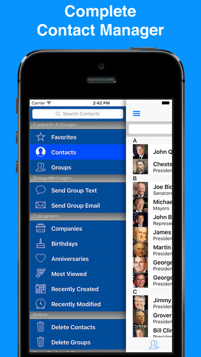 Iphone Giveaway Of The Day A2z Contacts Contact Manager Address Book