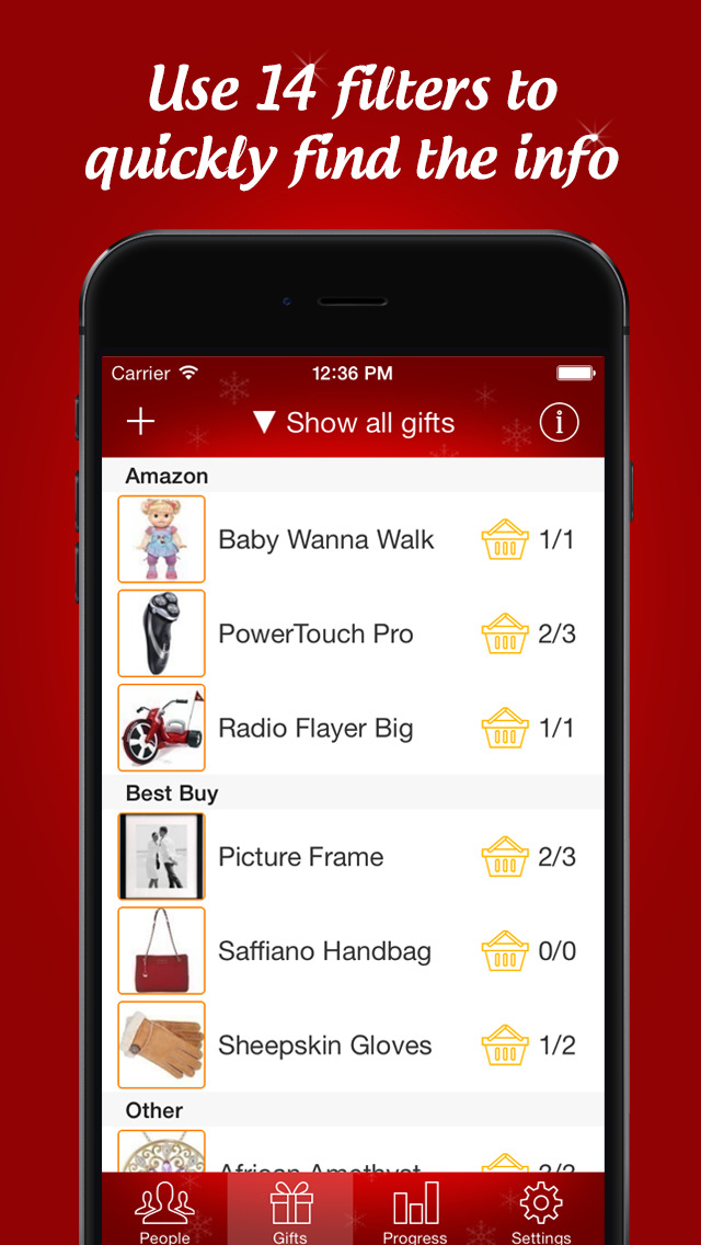 Christmas gift list app iphone