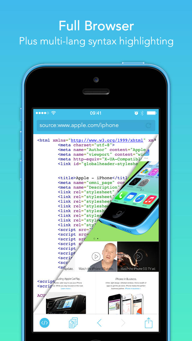 iPhone Giveaway of the Day - Srcfari — the view html source