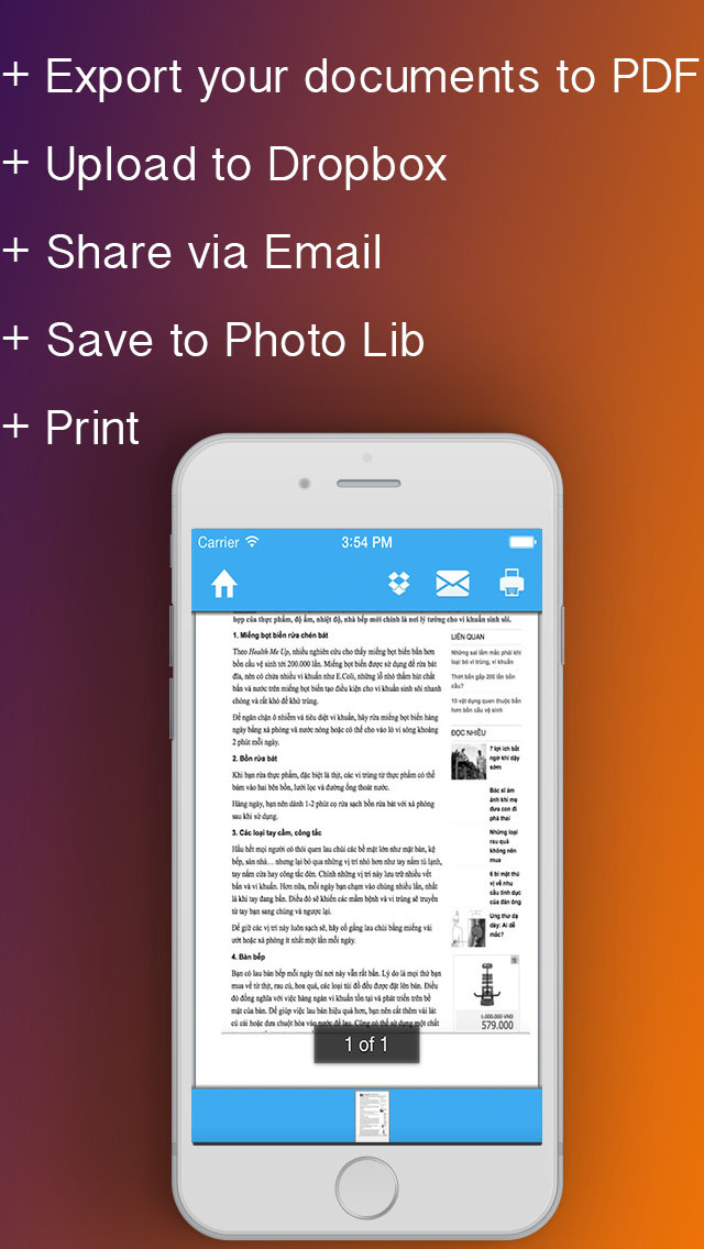 how to scan documents and safe to pdf