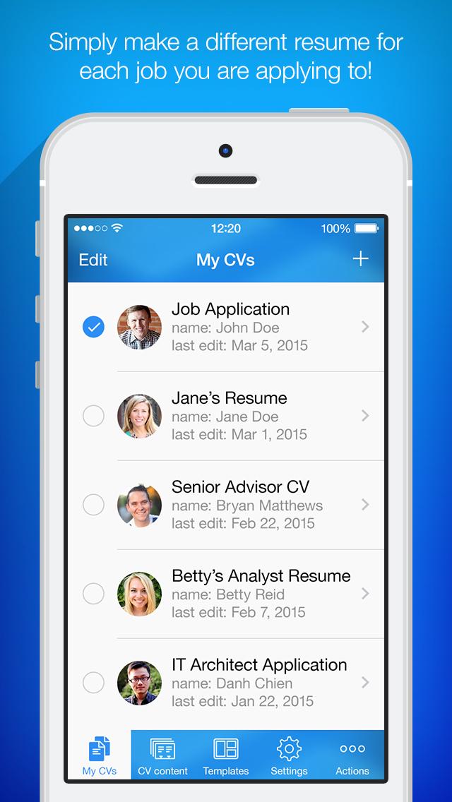 iPhone Giveaway of the Day - Resume Maker - Pro CV Designer