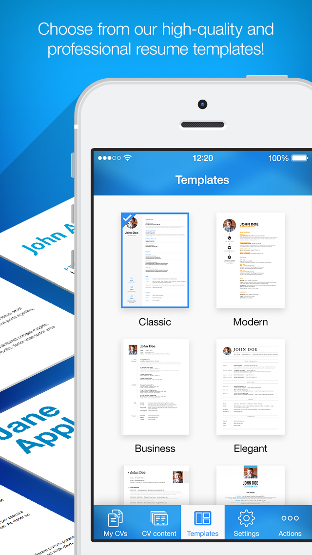 iPhone Giveaway of the Day Resume Maker Pro CV Designer